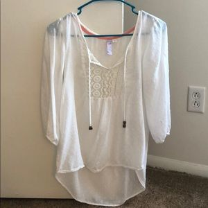 Lightweight white blouse from Francesca's